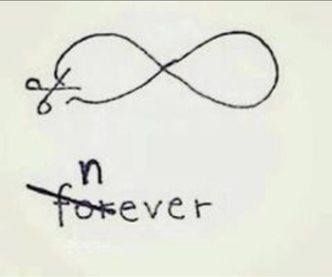 never, forever, and infinity image