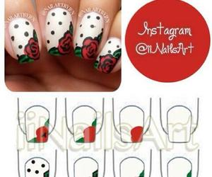 nails, red, and rose image