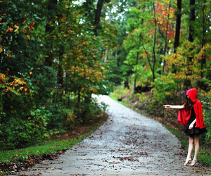girl, little red riding hood, and photography image
