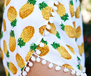 fashion, pineapple, and shorts image
