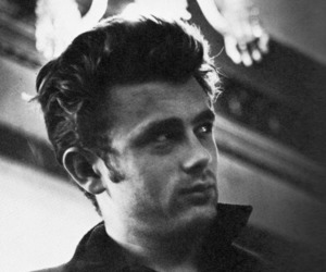 black and white, fashion, and james dean image