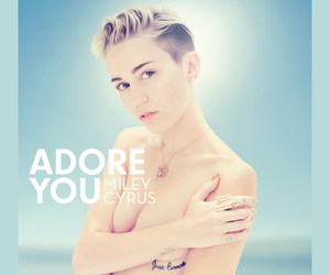 miley cyrus, adore you, and bangerz image