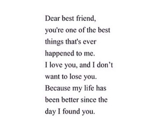 best friend, quotes, and love image