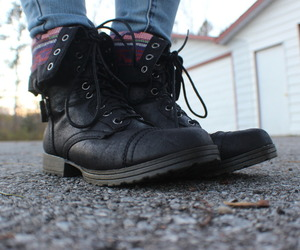 quality, combat boots, and shoes image