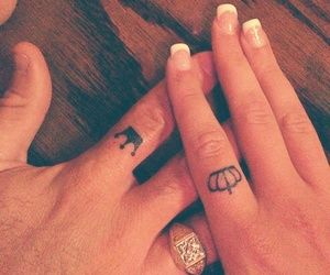 couple, nails, and tattoo image