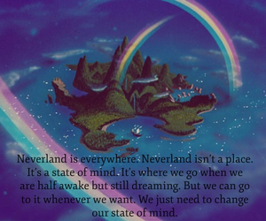 neverland, peter pan, and love image
