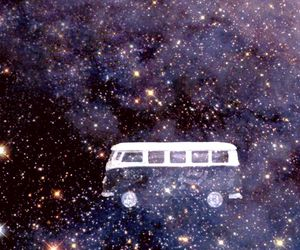 bus, hippie, and stars image