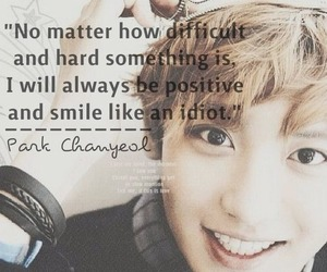 exo, chanyeol, and quote image