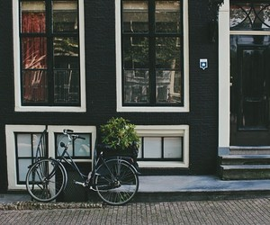 amsterdam, atmosphere, and bicycle image