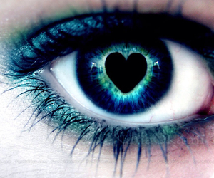 eye, eyes, and heart image