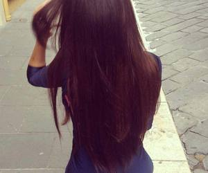 hair, brunette, and style image