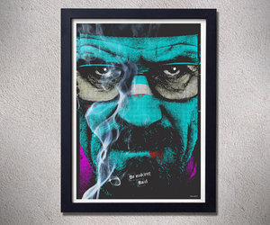 breaking bad, movie poster, and pop art image