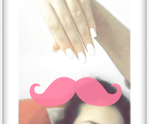girl, nail, and moustache image