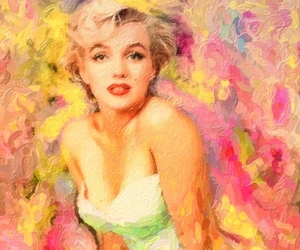 Marilyn Monroe, painting, and the ballerina sitting image