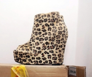 boot, fashion, and leopard image