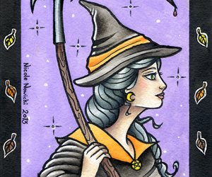 witch, ink it up, and wizard image