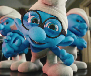 blue and smurfs image