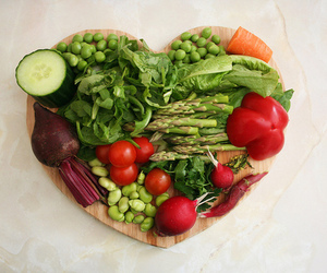 healthy, heart, and vegetables image