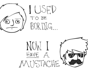 mustache, cool, and boring image