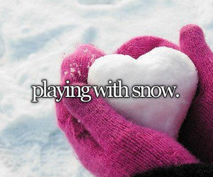 heart, smile, and snow image