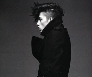 Ash Stymest, black and white, and boy image