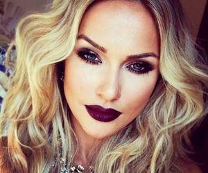 makeup, blonde, and make up image