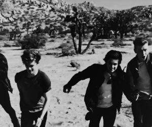black and white, boys, and tristan evans image