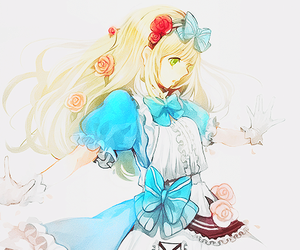 alice in wonderland, anime girl, and cute anime image