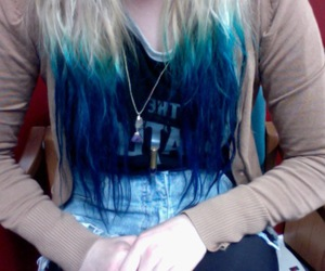 blue hair and hair image