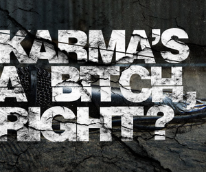 karma, asking alexandria, and bitch image