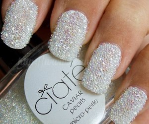 nails, white, and pearls image
