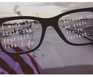 quote, love, and glasses image