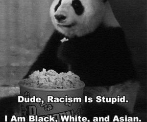 asian, black, and discrimination image
