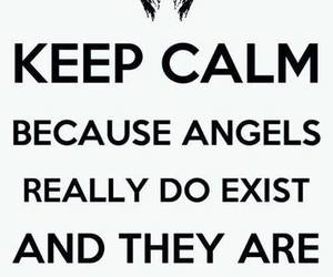 angel, keep calm, and hush hush image
