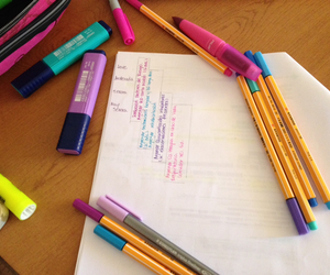 colors, stabilo, and study image