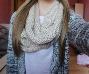scarf, clothes, and girl image