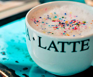 drink, coffee, and latte image