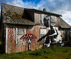 mushroom and art image