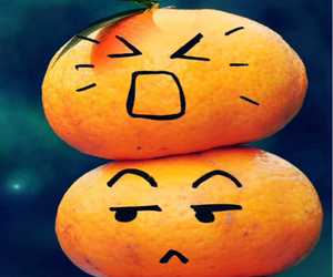 angry, faces, and fruit image