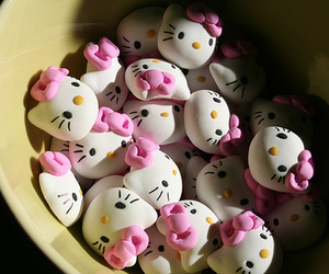 hello kitty, pink, and photography image
