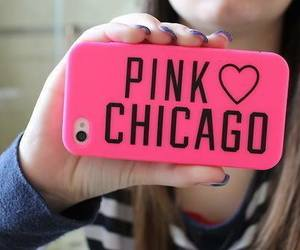 pink, iphone, and chicago image