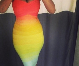 dress and rainbow image