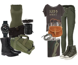 army, fashion, and green image