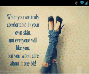 quote, comfortable, and skin image