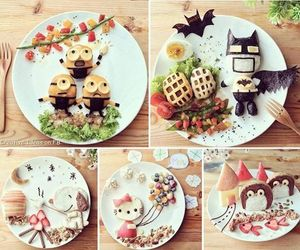 food, batman, and minions image