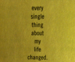 book, everything changed, and books image