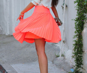 skirt, coral, and neon image