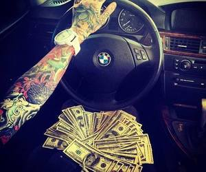 tattoo, money, and bmw image