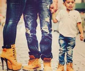family, timberland, and shoes image