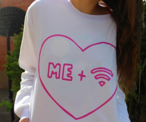 wifi, me, and pink image